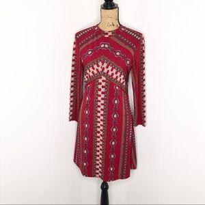 Free People Stella-Dress Size M-Long Sleeve-Lined